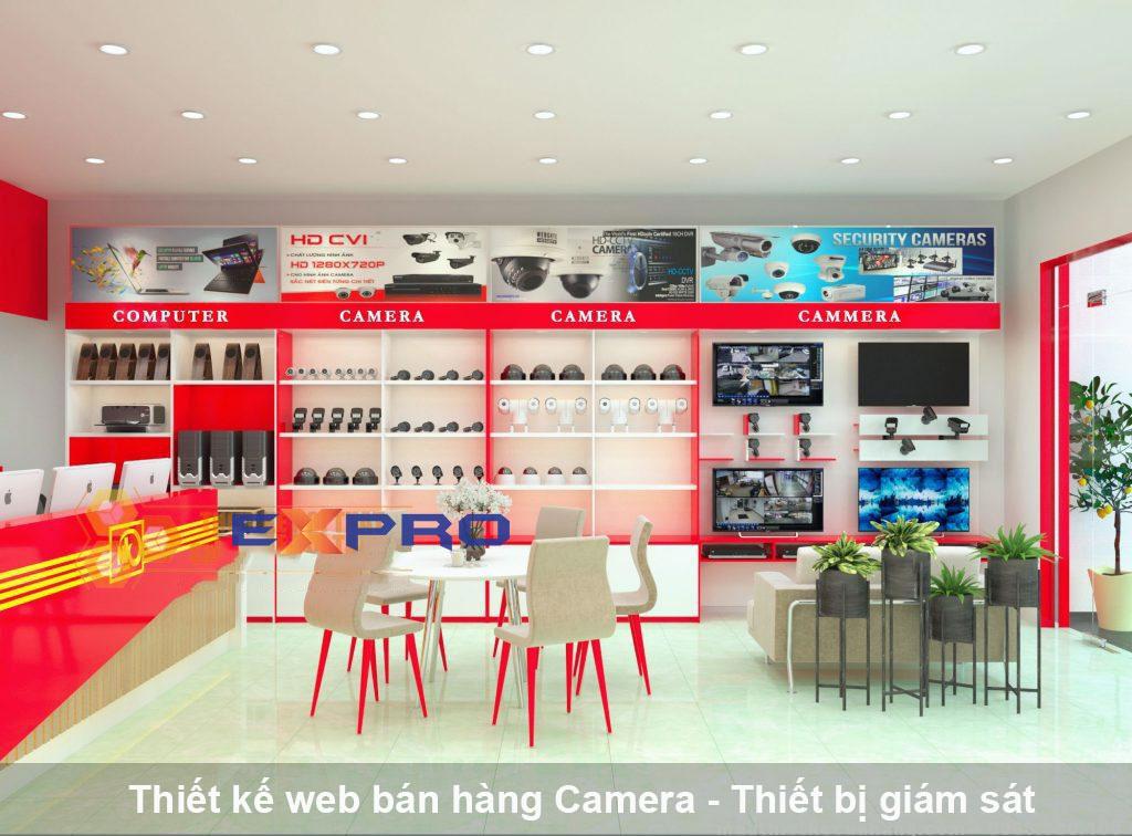 Thiết kế web bán camera  thiết bị giám sát