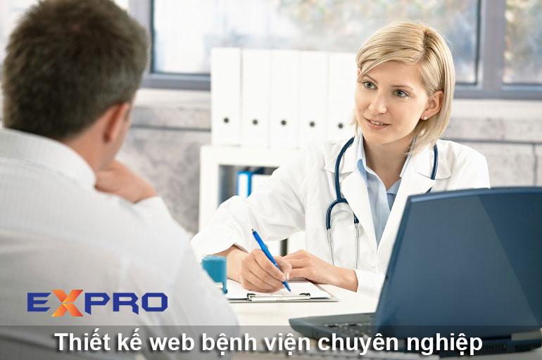 Thiết kế web bệnh viện cơ sở y tế