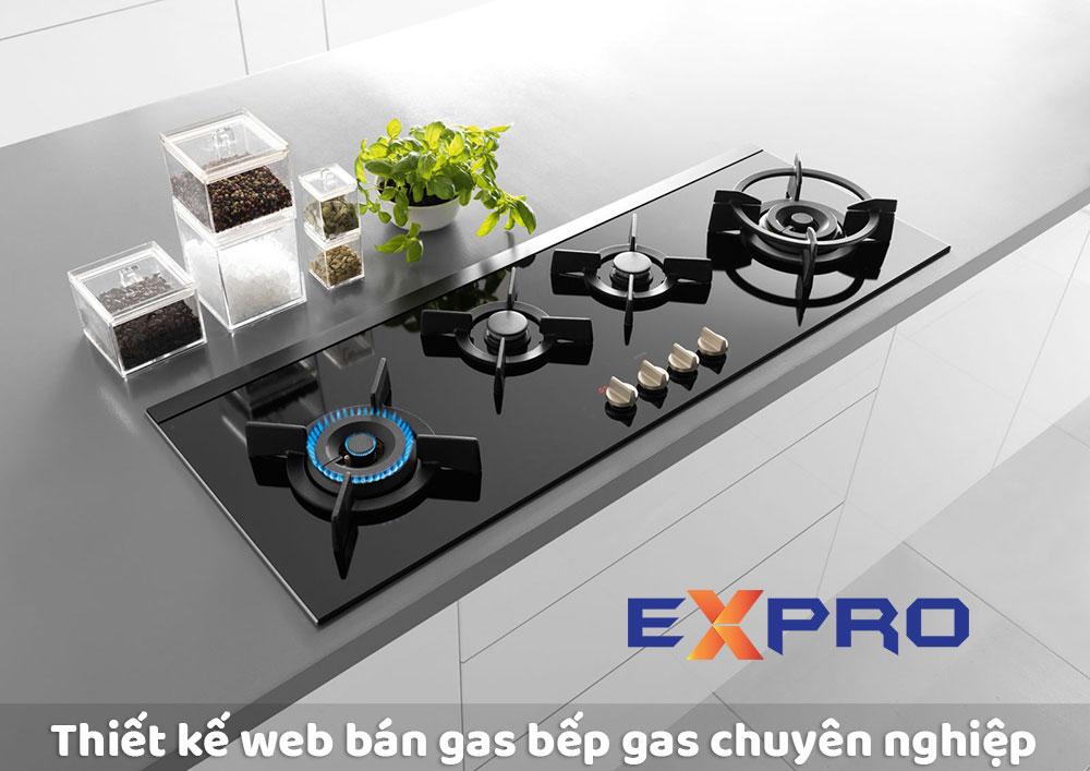 Thiết kế web bán bình gas  bếp gas chuẩn SEO giá tốt nhất