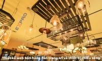Thiết kế web bán hàng đèn trang trí và thiết bị chiếu sáng