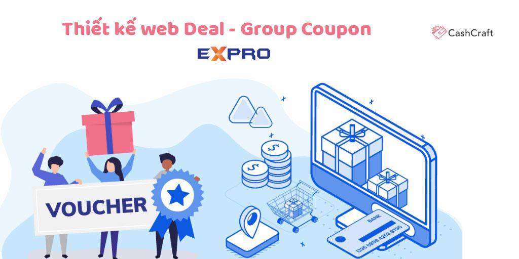 Thiết kế web deal - group coupon chuyên nghiệp