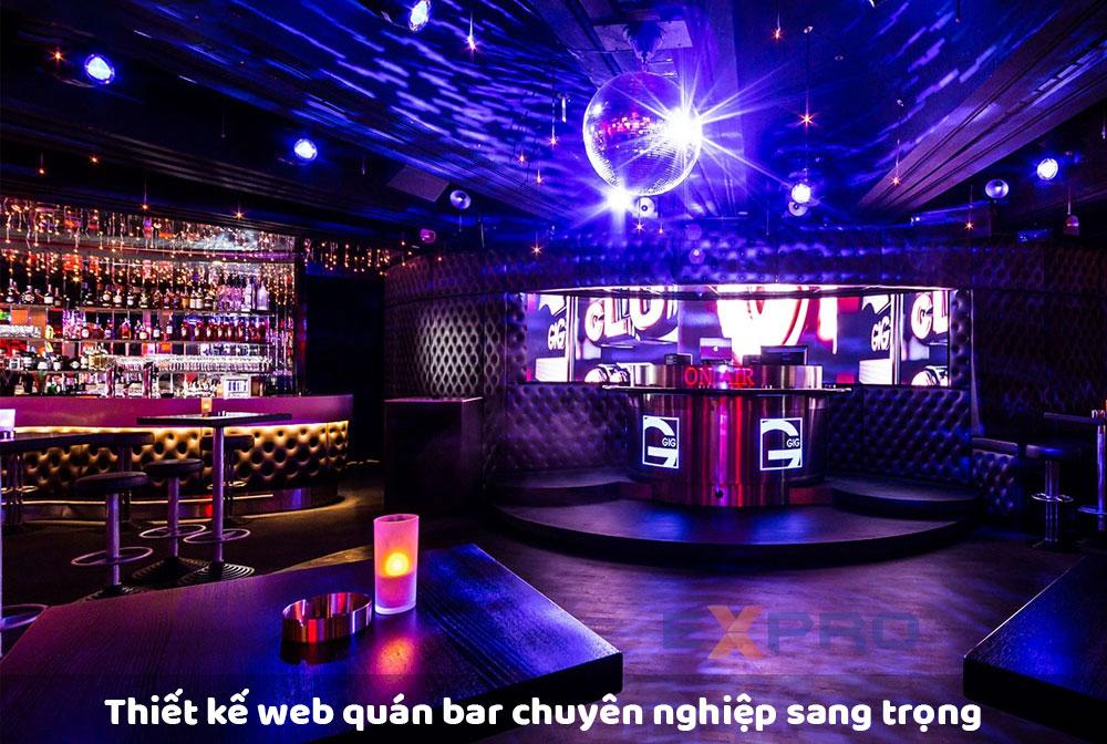 Thiết kế web quán bar đẹp mắt sang trọng
