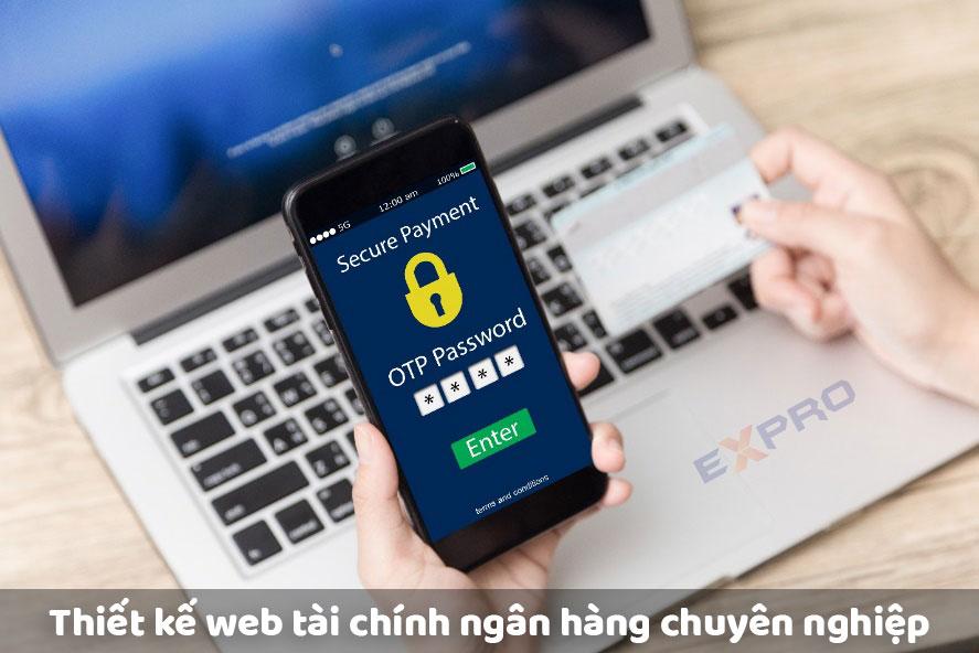 Thiết kế website tài chính ngân hàng chuyên nghiệp tính bảo mật cao