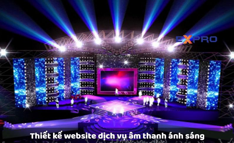 Thiết kế website dịch vụ âm thanh ánh sáng giá rẻ