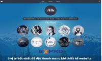 5 vị trí tốt nhất để đặt thanh menu khi thiết kế website