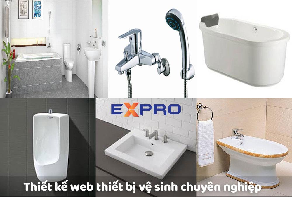 Thiết kế website thiết bị vệ sinh chuyên nghiệp