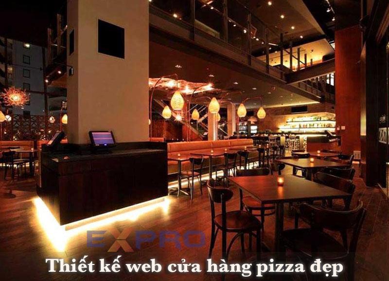 Thiết kế web bán hàng cửa hàng pizza hấp dẫn đẹp