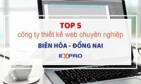 top 5 công ty thiết kế web chuyên nghiệp tại Biên Hòa Đồng Nai