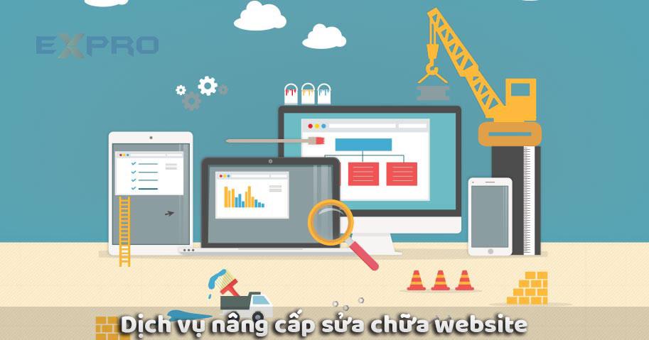 Dịch vụ sửa chữa nâng cấp website uy tín chuyên nghiệp