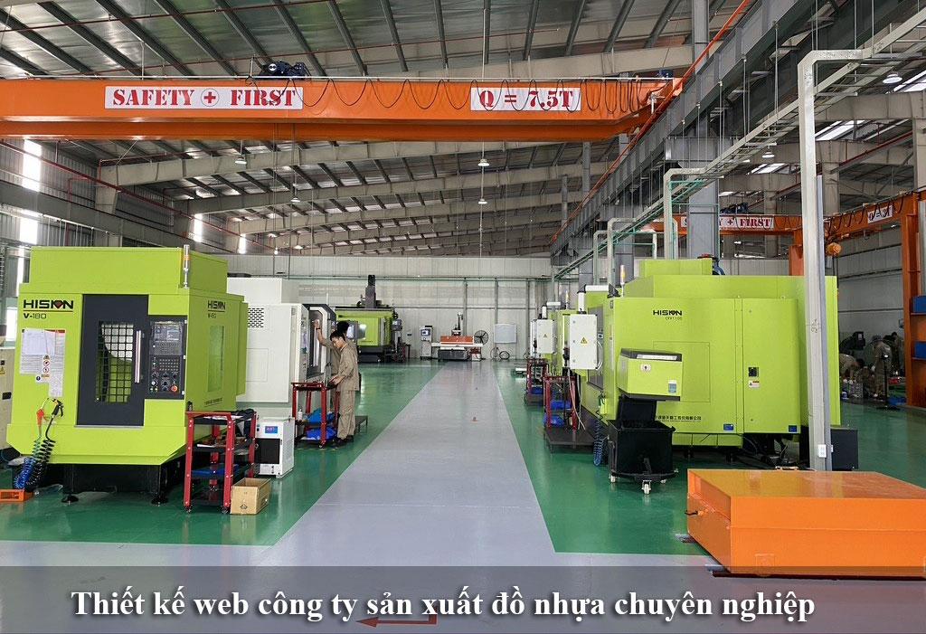 Thiết kế website công ty sản xuất đồ nhựa cao cấp chuyên nghiệp