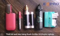 Thiết kế website bán hàng thuốc lá điện tử