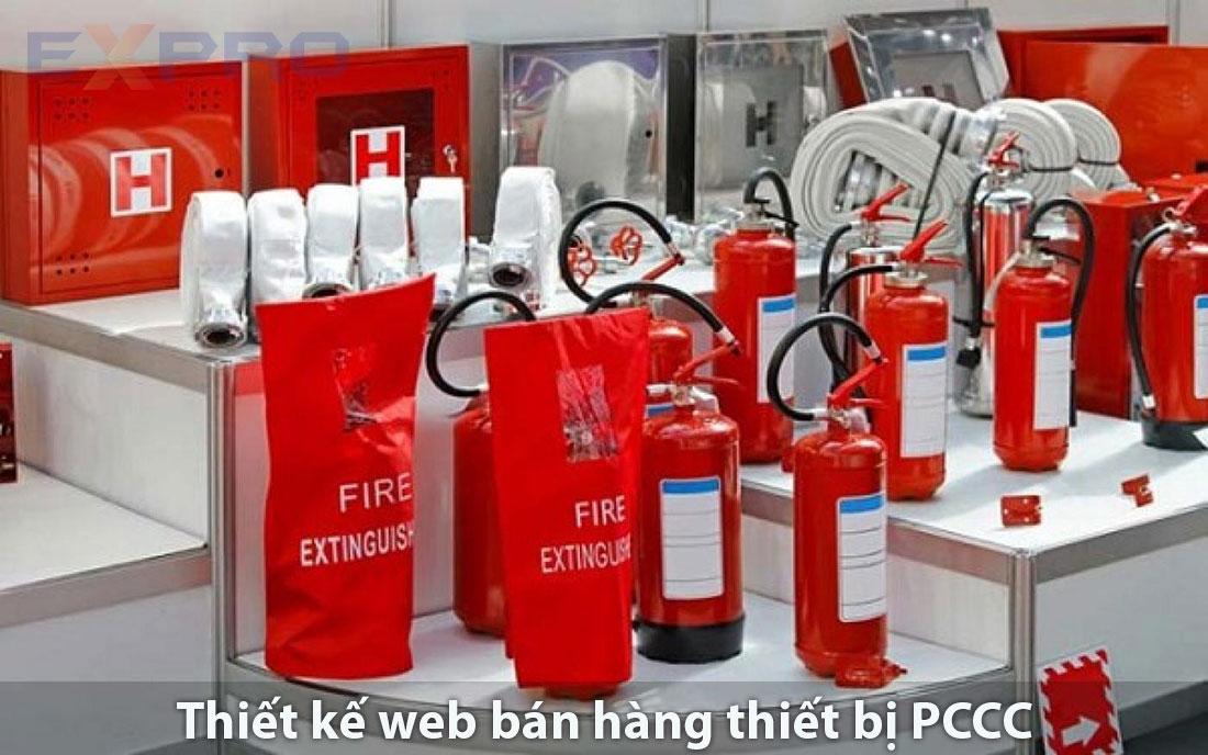 thiết kế web bán thiết bị phòng cháy chữa cháy