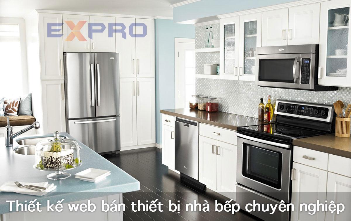 Thiết kế website bán thiết bị nhà bếp online chuyên nghiệp giá tốt
