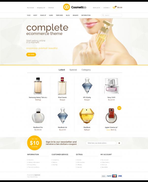 Mẫu web cửa hàng mỹ phẩm
