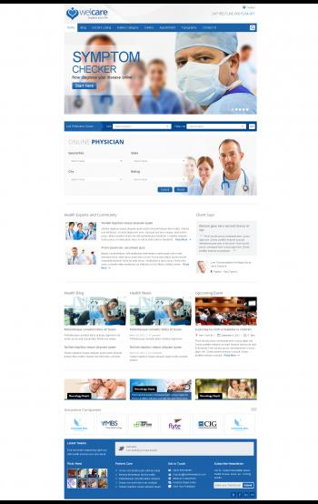 Mẫu web tin tức y tế welcare
