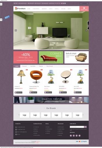 Mẫu web bán hàng nội thất Fun