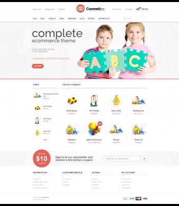 Mẫu web bán đồ chơi trẻ em Cosmiti