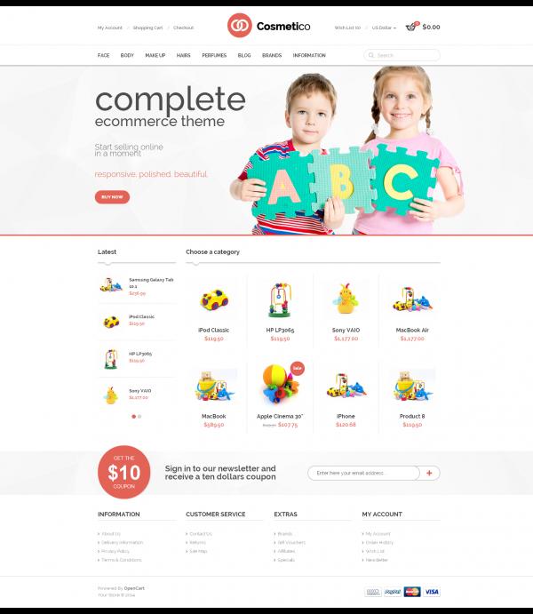 Mẫu web bán đồ chơi trẻ em