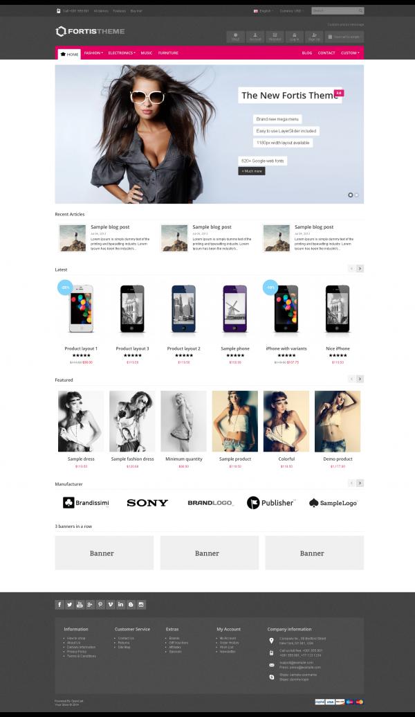 Web bán hàng Fortis