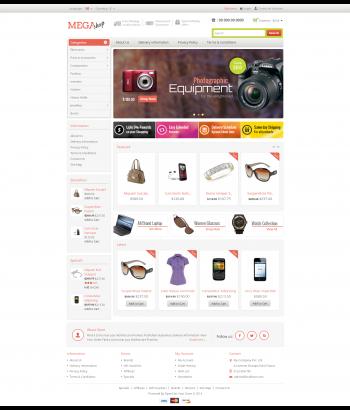 Mẫu web bán hàng chuyên nghiệp Mega shop