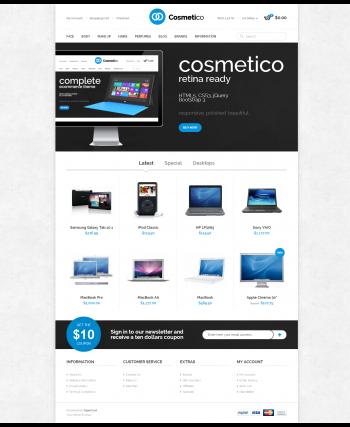 Web bán hàng cosmetico cực đẹp