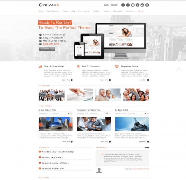 Mẫu Web giới thiệu công ty Nevada