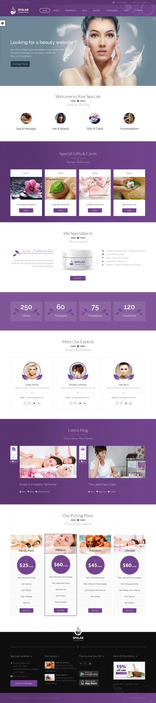 Thiết kế website thẩm mỹ viện, spa