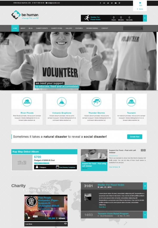 Thiết kế Web giới thiệu công ty Be Human