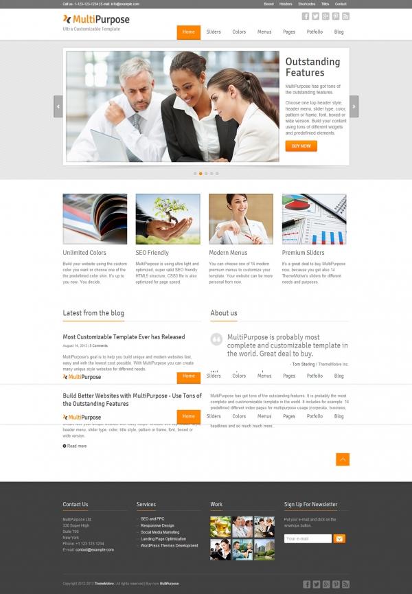 thiết kế Web giới thiệu công ty MultiPurpose