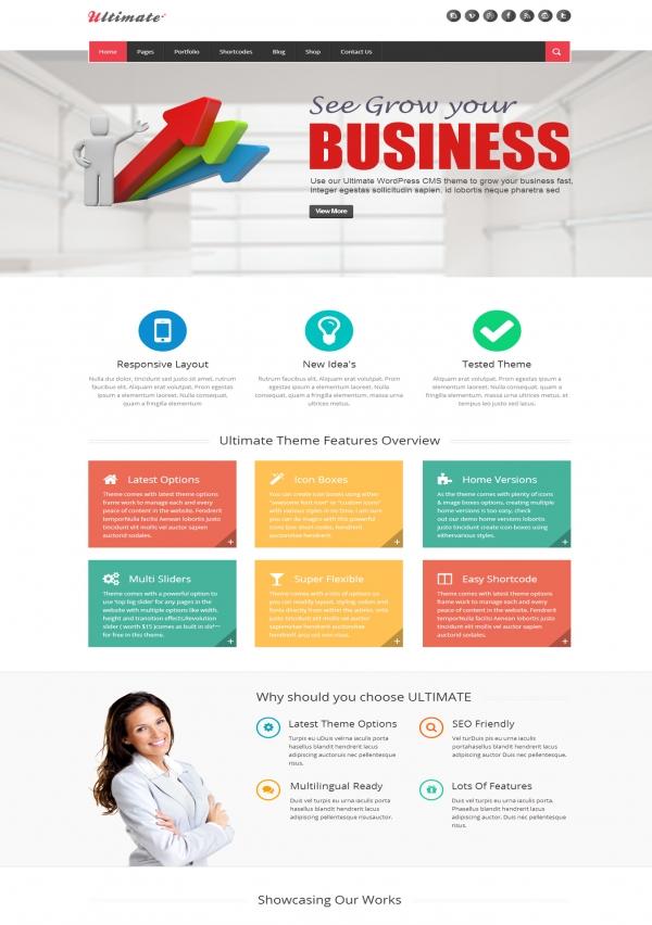 Thiết kế Web giới thiệu công ty Ultimate