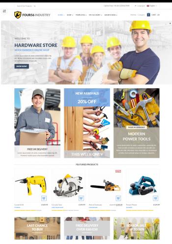 Mẫu website bảo hộ lao động