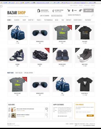 Mẫu web Bazarshop