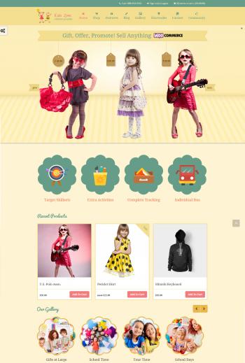 Thiết kế web bán đồ trẻ em Kids
