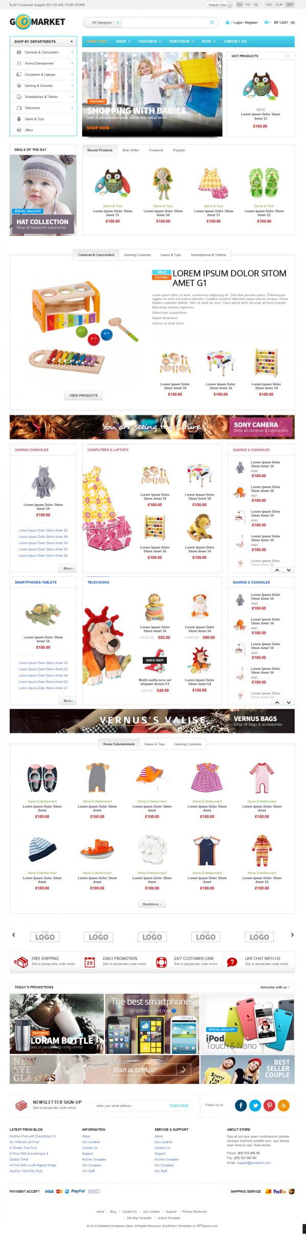Thiết kế website bán quần áo mẹ và bé