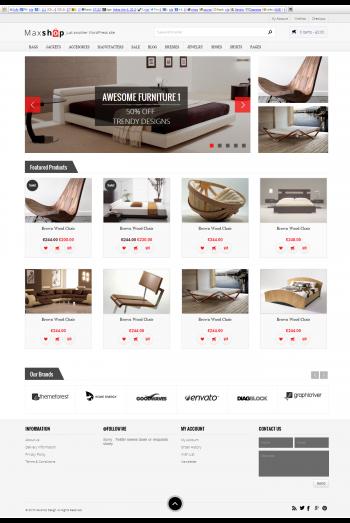 Mẫu trang web bán hàng maxshop