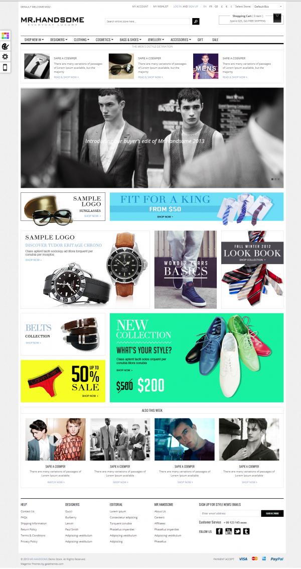 Thiết kế website bán hàng chuyên nghiệp Mr.Handsome