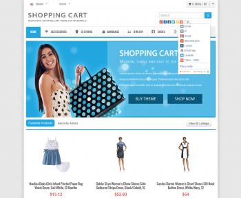Mẫu web bán hàng shopping cart