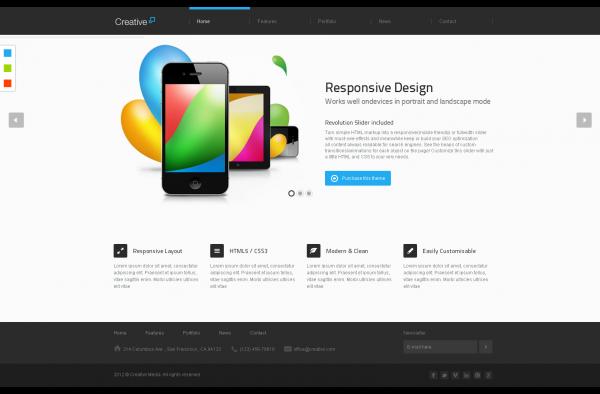 Mẫu thiết kế Web giới thiệu công ty Creative