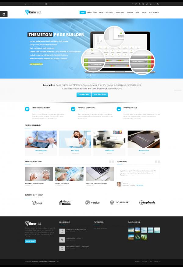 Thiết kế web giới thiệu công ty  Emareld chuyên nghiệp