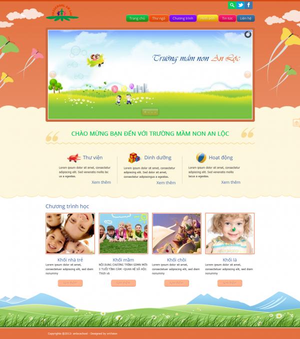 Thiết kế web mầm non