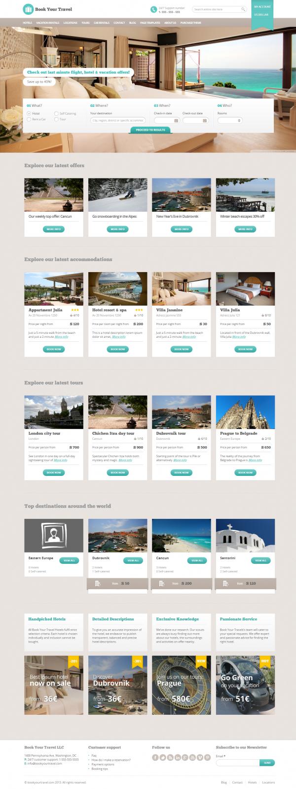 Thiết kế web du lịch đẹp Travel
