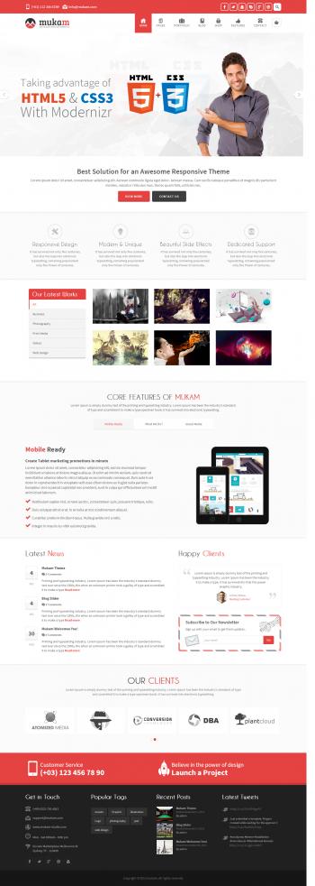 Mẫu web giới thiệu công ty kết hợp bán hàng MuKam