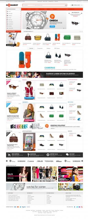 Mẫu web thương mại điện tử chuyên nghiệp GoMarket
