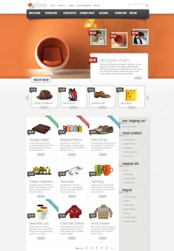Mẫu website bán hàng eStore