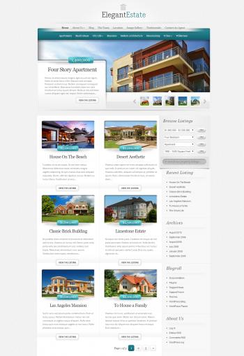 Mẫu web bất động sản Estate