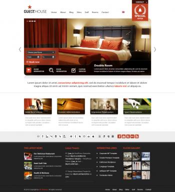 Mẫu website cho khách sạn Guest House