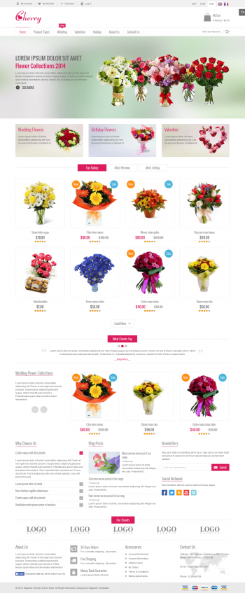 Mẫu web bán hoa chuyên nghiệp Cherry