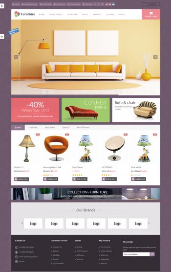 Mẫu website bán hàng nội thất chuyên nghiệp Furniture