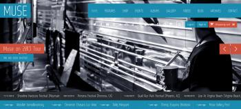 Mẫu website âm nhạc Muse